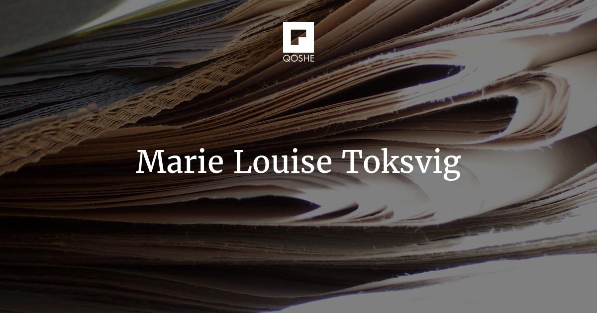 7ee3060167c QOSHE - Marie Louise Toksvig