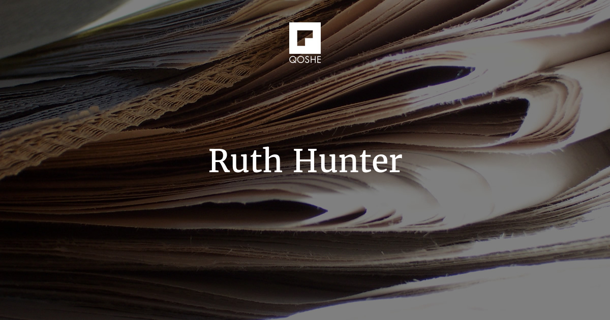 ruth and hunter essay The servant by james c hunter had made a profound impact on the business world this insightful masterpiece is even incorporated in business leadership trainings.