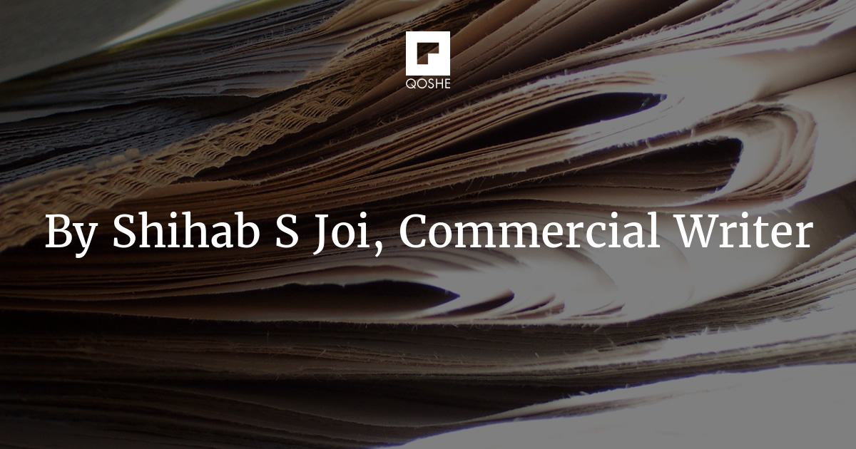 QOSHE - By Shihab S Joi, Commercial Writer articles